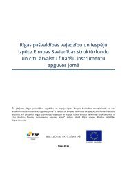 Rīgas pašvaldības vajadzību un iespēju izpēte ES struktūrfondu un ...