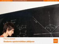 Studentu apmierinātības pētījuma pārskats - Izglītības un zinātnes ...