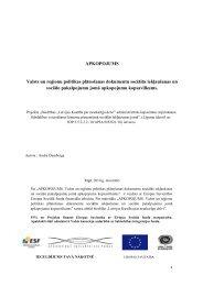 APKOPOJUMS Valsts un reģionu politikas plānošanas dokumentu ...