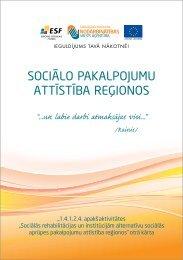 Sociālo pakalpojumu attīStība reģionoS - Nodarbinātības Valsts ...