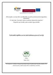 Neformālā izglītība un tās iedzīvināšanas procesi Latvijā