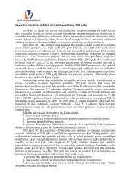 DVI darbības pārskata kopsavilkums 2011 - Datu Valsts Inspekcija