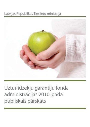 Uzturlīdzekļu garantijas fonds 2010. gada ... - Tieslietu ministrija