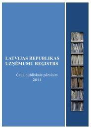 Gada publiskais pārskats 2011 - Uzņēmumu Reģistrs