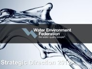 Strategic Direction 2012> - Water Environment Federation