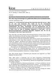 kipa Nr. 45 - Dienstag, 14. Februar 2006 , Seite - Peace Brigades ...