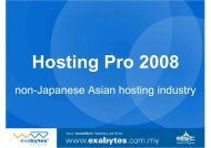 non-Japanese Asian hosting industry - HOSTING-PRO 2011