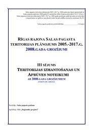 Teritorijas izmantošanas un apbūves noteikumi. Rīgas rajona Salas ...