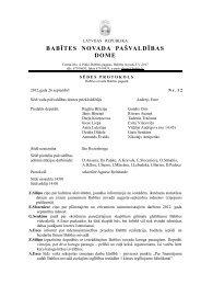 Protokols Nr. 12 - Babītes novads