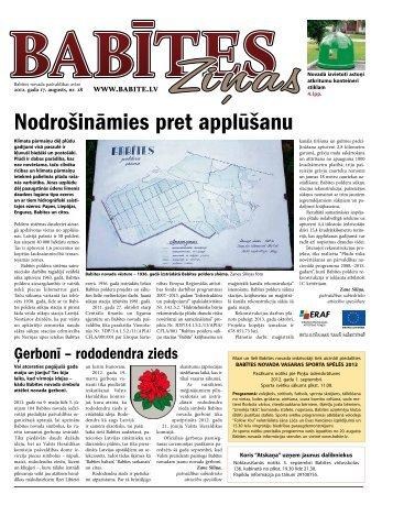 Nr.28. - 17.08.2012. (967.20 KB) - Babītes novads