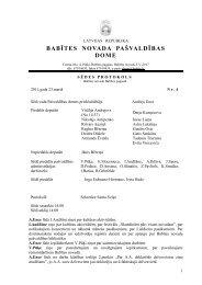 BABĪTES NOVADA PAŠVALDĪBAS DOME - Babītes novads