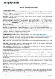 HipoNet pakalpojuma noteikumi - Hipotēku banka