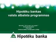 Valsts atbalsta programmas biznesa uzsācējiem - Hipotēku banka