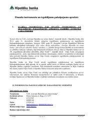Finanšu instrumentu un ieguldījumu pakalpojumu ... - Hipotēku banka