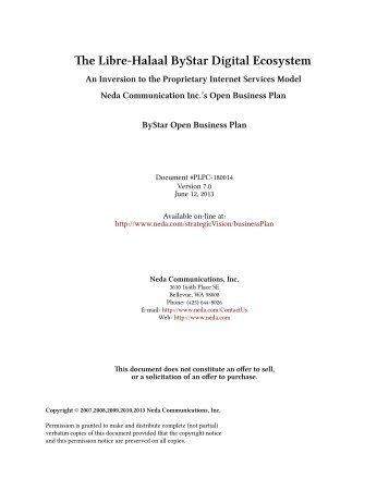 e Libre-Halaal ByStar Digital Ecosystem - Mohsen BANAN - ByName