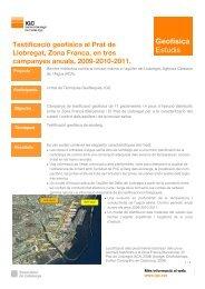 Testificació geofísica al Prat de Llobregat, Zona Franca, en tres ...