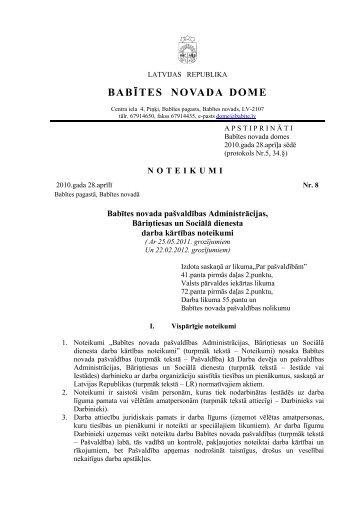 BABĪTES NOVADA DOME - Babītes novads
