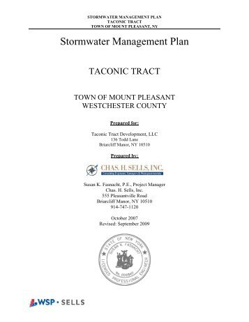 B - Stormwater Management Plan - Mount Pleasant, NY