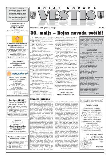 Nr.10 - Mērsraga pagasta padome