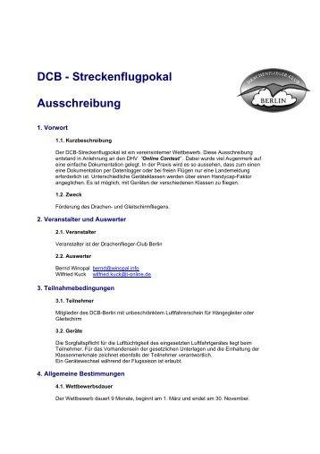 Ausschreibung als PDF zum Download - Drachenflieger Club Berlin ...