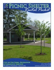 Picnic Shelter Rental Packet - City of Fife
