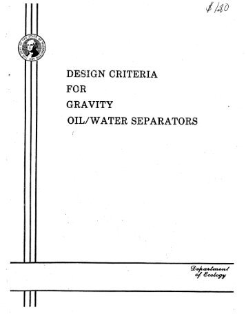 Oil Water Separators - City of Fife
