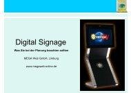 Digital Signage: Was Sie bei der Planung - MEGA Web