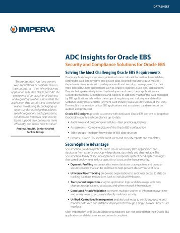 Oracle E-Business Suite (EBS) Insights - Ascent Technology