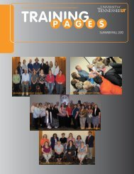 training - Human Resources - The University of Tennessee
