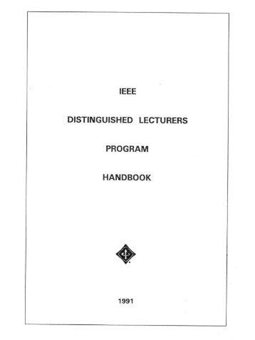 IEEE Distinguished Lecturer Handbook