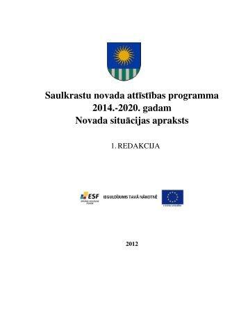 Saulkrastu novada attīstības programma 2014.-2020 ... - Saulkrasti