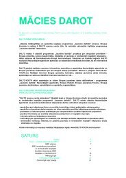 MĀCIES DAROT - Jaunatnes starptautisko programmu aģentūra