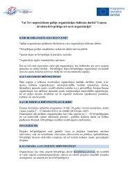 Sīkāka informācija - Jaunatnes starptautisko programmu aģentūra