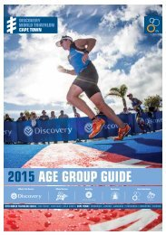 DISCOVERY WORLD TRIATHLON CAPE TOWN AGE GROUP GUIDE