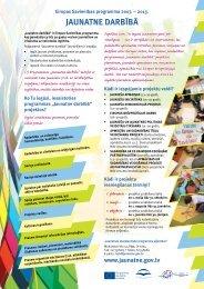JAUNATNE DARBĪBĀ - Jaunatnes starptautisko programmu aģentūra