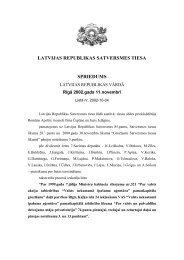 latvijas republikas satversmes tiesa spriedums