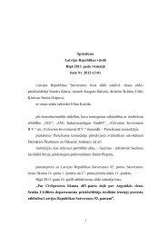 Spriedums Latvijas Republikas vārdā Rīgā 2013 ... - Satversmes tiesa