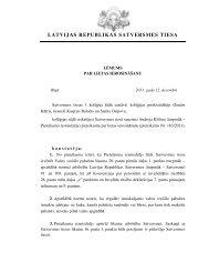 Lēmums par lietas ierosināšanu - Satversmes tiesa