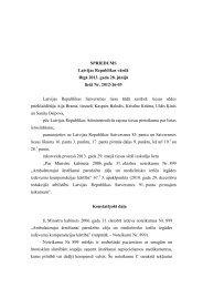 SPRIEDUMS Latvijas Republikas vārdā Rīgā ... - Satversmes tiesa