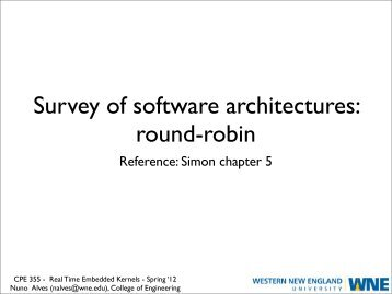 Survey of software architectures: round-robin - Nuno Alves