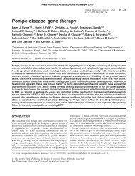 Pompe disease gene therapy - Acid Maltase Deficiency Association