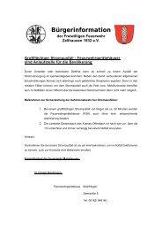 Stromausfall - Freiwillige Feuerwehr Zellhausen