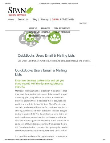 QuickBooks Users Email List from Span Global Services