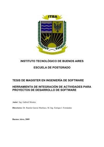 INSTITUTO TECNOLÓGICO DE BUENOS AIRES ... - Iidia.com.ar