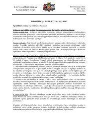Informācija par lietu - Satversmes tiesa