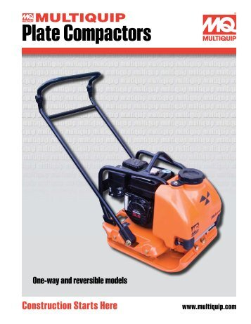 Reversible Plate Compactors - Heavy Equipment Rental