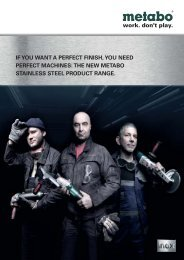 if you want a perfect finish, you need perfect machines: the ... - Metabo