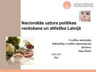 Nacionālās uztura politikas veidošana un attīstība Latvijā