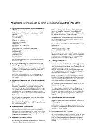 Allgemeine Informationen zu Ihrem Versicherungsvertrag (AIB 2008)