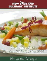 Student Handbook - New England Culinary Institute
